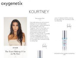 Oxygenetix Kourtney Kardashian